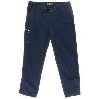 Lauren Active Womens Cotton Cargo Capri Pants - 8