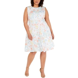 Link to Calvin Klein Womens Plus Party Dress Floral Fit And Flare - White Multi Similar Items in Women's Plus-Size Clothing