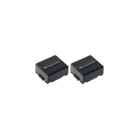 Replacement Panasonic SDR-H20 Li-ion Camcorder Battery - 700mAh / 7.2v (2 Pack)