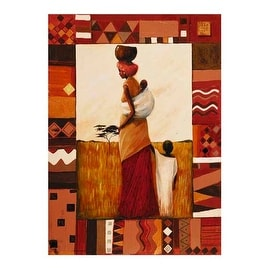 ''Journey to Kariba Well'' by Emilie Gerard African American Art Print (19.75 x 15.75 in.)