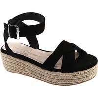 Chinese Laundry Women's Zala Platform Sandal Black Microsuede