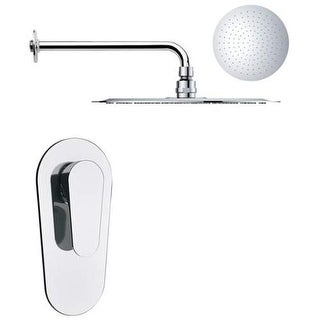 Remer by Nameeks SS1165 Mario 2.8 GPM Single Function Rain Shower Head with Valv