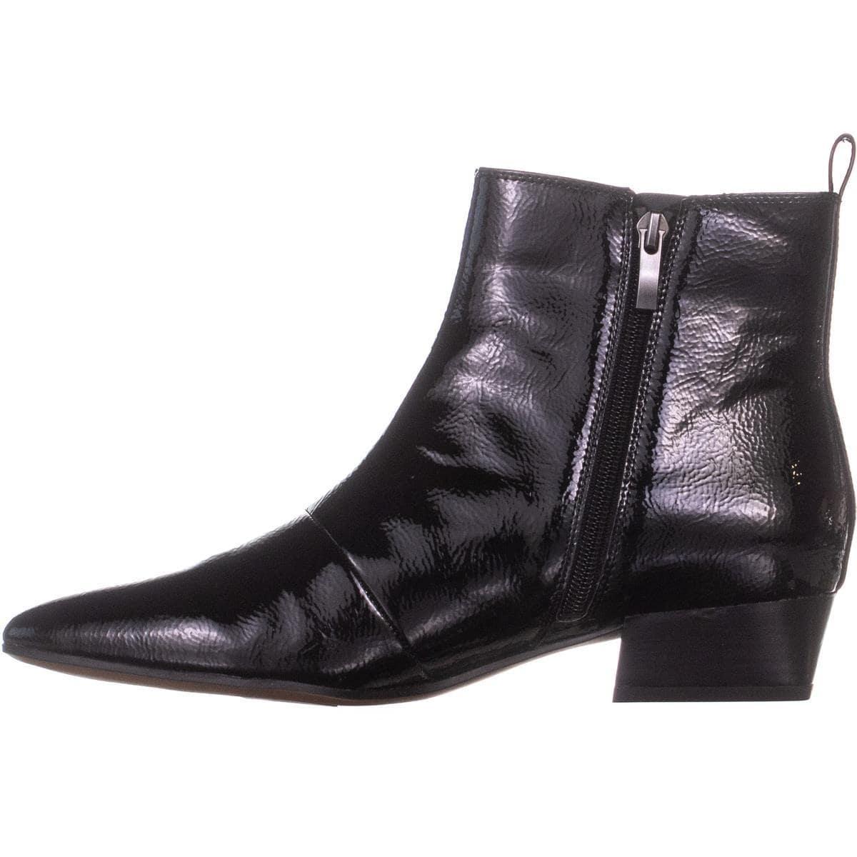 e8d17b0bdb5 Franco Sarto Archie 2 Ankle Boots, Black Patent - 9.5 us / 39.5 eu