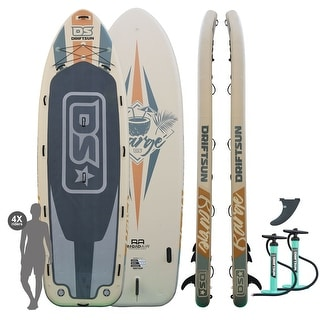 Driftsun Party Barge 15 Paddle Board Mega ISUP Large Multi Person Inflatable Paddleboard With 2 Dual Action Hand Pumps