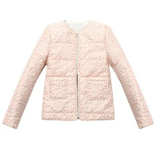 Richie House Little Girls' Padding Jacket with Flower Printing 2-3
