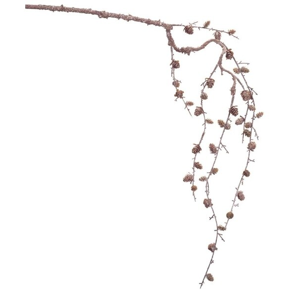 """Set of 12 Brown Rustic Artificial Branches with Pine Cones Wall Decorations 42"""""""