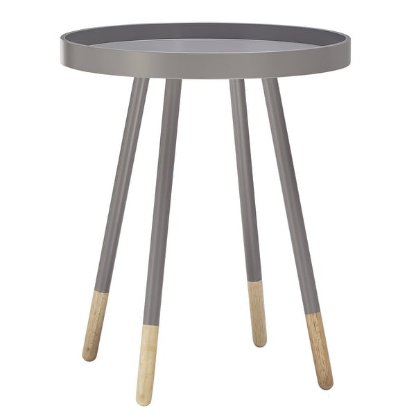 Marcella Paint-Dipped Round Tray-Top Side Table by iNSPIRE Q MODERN - Side Table. Opens flyout.