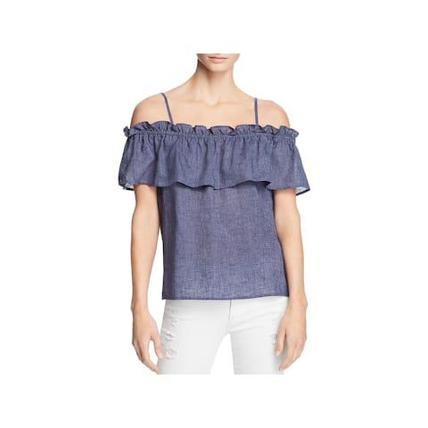 Splendid Womens Casual Top Linen Off-The-Shoulder