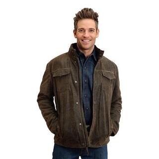 Stetson Western Jacket Mens Plaid Hood Brown 11-097-0539-6609 BR