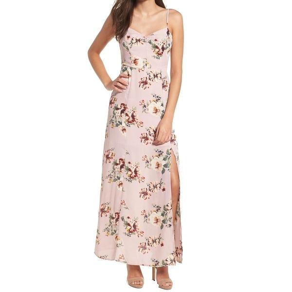 cab12b80e85d0 Shop Leith Floral Print Chiffon Women's Slit Maxi Dress - Free ...