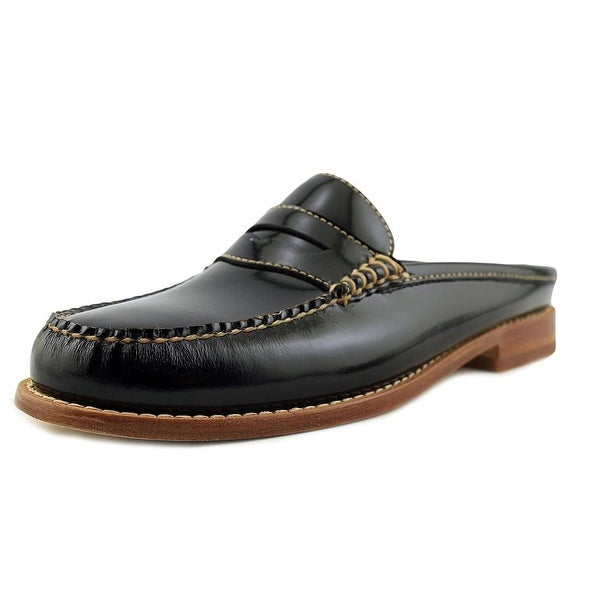 GH Bass & Co Wynn Women Round Toe Leather Black Loafer