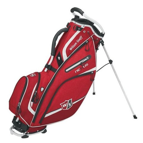 """Wilson Nexus III Golf Carry Leg Stand Bag 9.5"""" Top Golfing Cart WGB5700RD (Red) - Red - One size"""