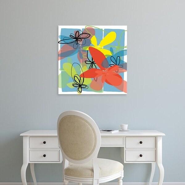 Easy Art Prints Jan Weiss's 'Pop Goes Space Two' Premium Canvas Art