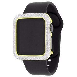 Gold Tone Custom Apple Watch Simulated Diamond 1st Generation iOS Touch Black