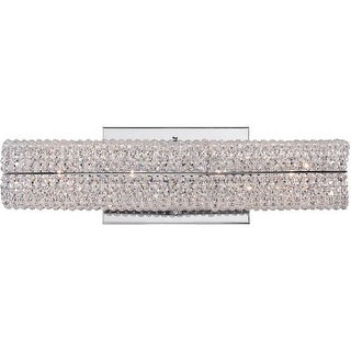 """Platinum EME8604 Evermore 4 Light 16"""" Wide Reversible Bath Bar with Optic Crystal Accents"""