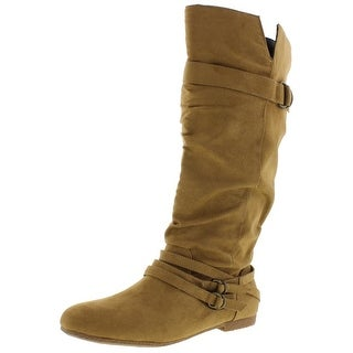 Dolce by Mojo Moxy Womens Jussie Mid-Calf Boots Faux Suede Buckle