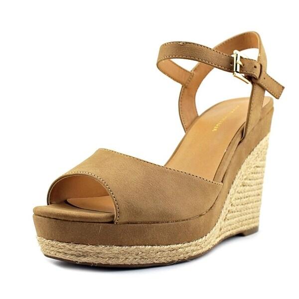 590750e3 Shop Tommy Hilfiger Kali 2 Open Toe Synthetic Wedge Heel - Free ...
