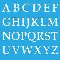 "Distressed Alpha - Americana Decor Stencil 12""X12"""