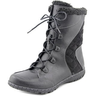 Naturalizer Romano Women Round Toe Synthetic Black Winter Boot