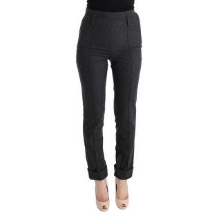 Ermanno Scervino Ermanno Scervino Gray Virgin Wool Skinny Casual Pants