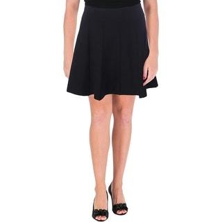 Aqua Womens Juniors Flare Skirt Solid Mini