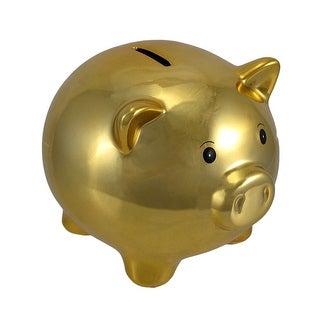 Metallic Gold Ceramic Piggy Bank 5 1/2 In.