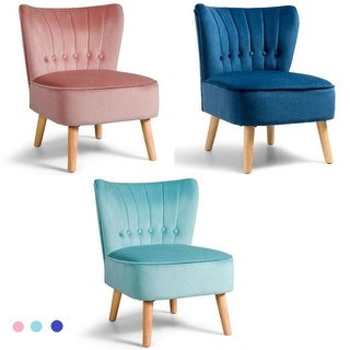 Link to Costway Armless Accent Chair Tufted Velvet Leisure Chair Single Sofa Similar Items in Living Room Chairs
