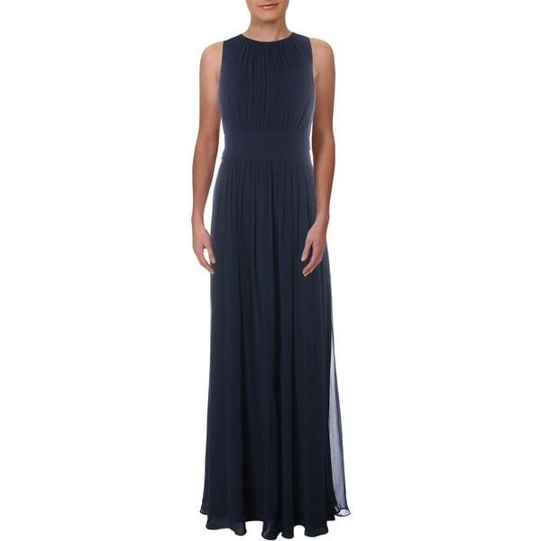 Lauren Ralph Lauren Womens Niketta Evening Dress Georgette Pleated