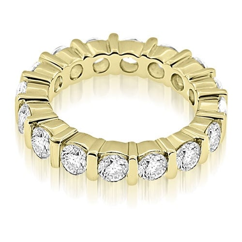 2.40 cttw. 14K Yellow Gold Bar Set Round Cut Diamond Eternity Ring