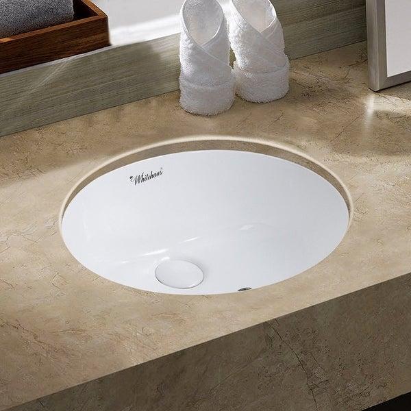 """Whitehaus WHU71003 Isabella Plus 19-3/8"""" Vitreous China Undermount Bathroom Sink - White"""