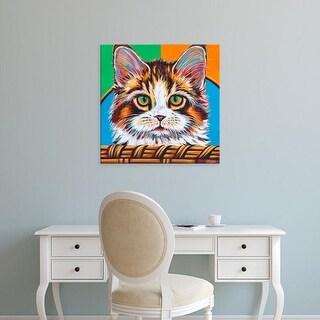 Easy Art Prints Carolee Vitaletti's 'Kitten in Basket II' Premium Canvas Art