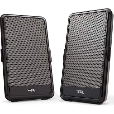 Cyber Acoustics CA2988B Cyber Acoustics CA-2988 USB Powered Speaker - Portable Design (2, Black)