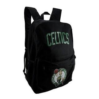 NBA Boston Celtics Black Canvas Backpack