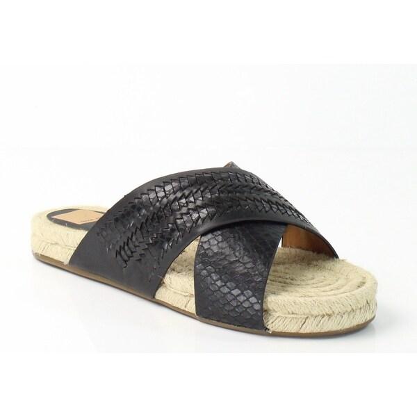 Dolce Vita NEW Black Women Shoes Size 7.5M Genivee Leather Slides