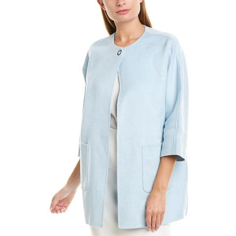 Kinross Reversible Wool & Cashmere-Blend Coat
