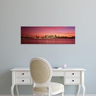 Easy Art Prints Panoramic Image 'City skyline, Bay Bridge, San Francisco Bay, San Francisco, California' Canvas Art