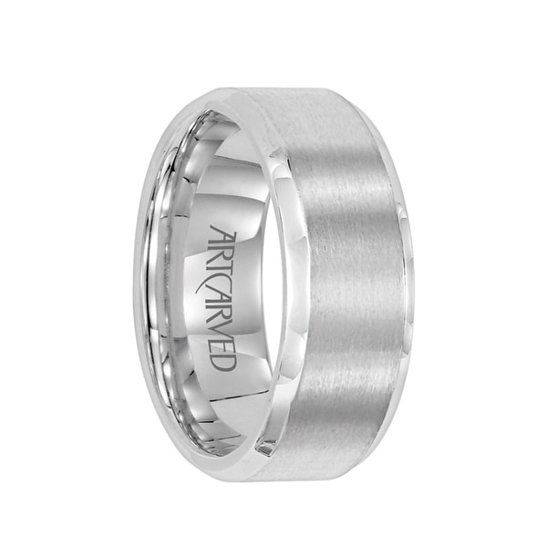Shop BOUNDLESS Palladium Wedding Band With Brushed Center