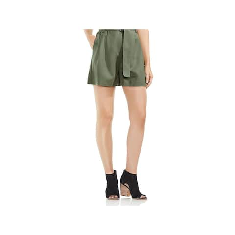 Vince Camuto Womens High-Waist Shorts Belted Stretch