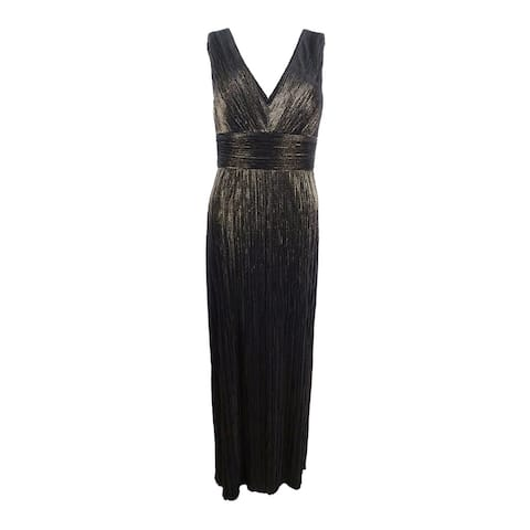 ccf874fef1d Jessica Howard Women s Pleated Metallic Slit Gown