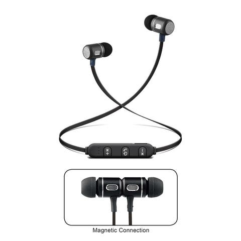 Bluetooth® Isolation Earphones with Metal Magnet, Microphone & Remote