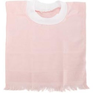 "Light Pink - Velour Toddler Pullover Bib 14 Count 12""X19.5"""