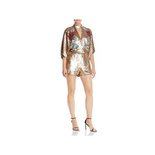 Parker Womens Landon Romper Metallic Sequined