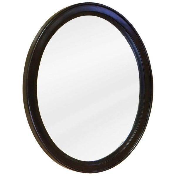 Jeffrey Alexander MIR056 Demi-Lune Collection Oval 22 x 27-1/2 Inch Bathroom Vanity Mirror - N/A