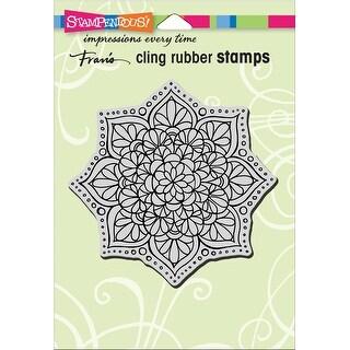 "Stampendous Cling Stamp 6.5""X4.5""-Mandala Flower"