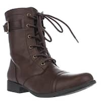 AR35 Faylln Lace Up Combat Boots, Brown