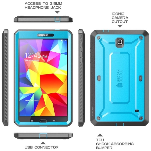 SUPCASE Samsung Galaxy Tab 4 7.0 Case - Unicorn Beetle Pro Series-Blue/Black