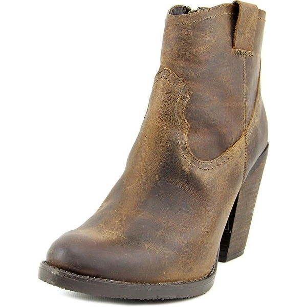 Musse & Cloud Josie Women Pointed Toe Leather Brown Ankle Boot