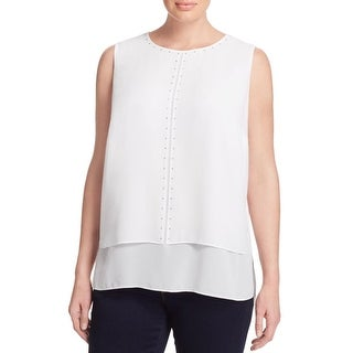 MICHAEL Michael Kors Womens Plus Blouse Chiffon Studded