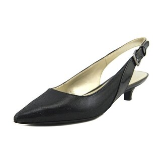 Anne Klein AK 7ece   Pointed Toe Canvas  Slingback Heel