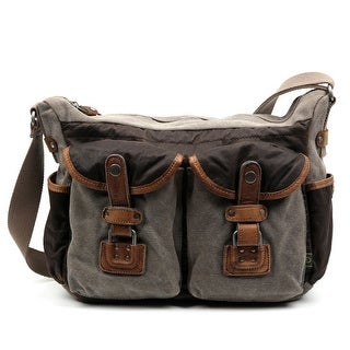 Link to TSD Brand Tapa Two-Tone Canvas Mail Bag Similar Items in Messenger Bags